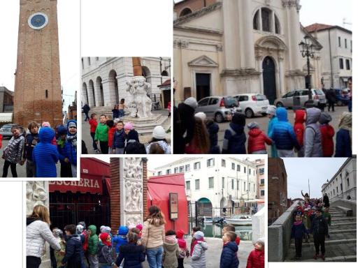 Collage di foto in visita a Chioggia